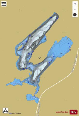 Black Trout Lake Fishing Map - i-Boating App