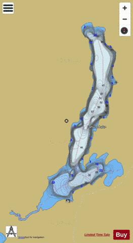 Fortune Lake + Proudfoot Bay Fishing Map - i-Boating App