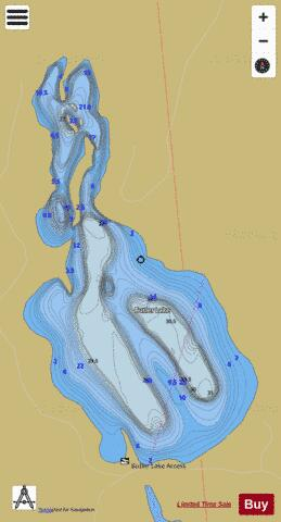 Butler Lake Fishing Map - i-Boating App