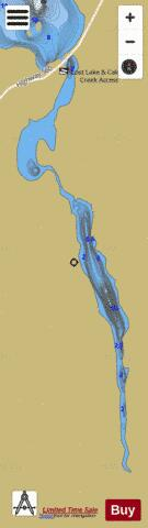 Calcite Lake Fishing Map - i-Boating App
