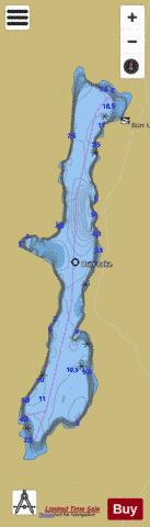 Burr Lake Fishing Map - i-Boating App