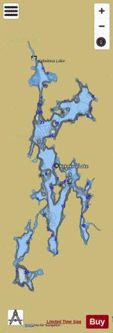 Kekekwa Lake Fishing Map - i-Boating App