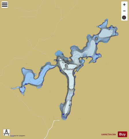 Good Lake Fishing Map - i-Boating App