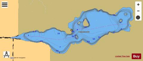 Bennett Lake Fishing Map - i-Boating App