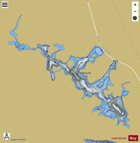 Herridge Lake Fishing Map - i-Boating App