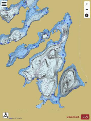 Dymond Lake Fishing Map - i-Boating App