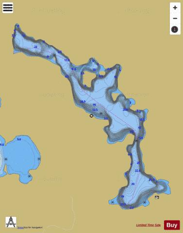 Marion Lake Fishing Map - i-Boating App
