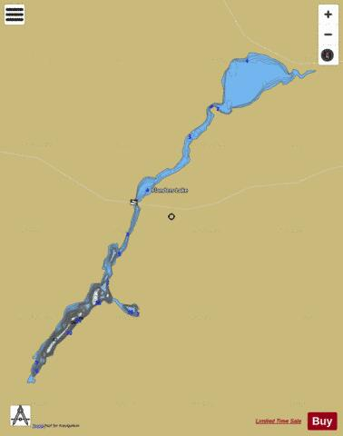 Flanders Lake Fishing Map - i-Boating App