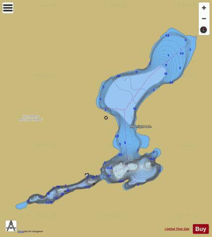 Moonlight Lake Fishing Map - i-Boating App