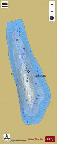 Shallow Lake #2 Fishing Map - i-Boating App