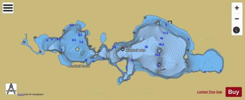 Marshall Lake Fishing Map - i-Boating App