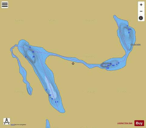 Steele Lake Fishing Map - i-Boating App