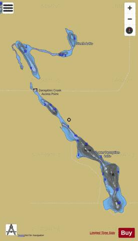 Lower Deception Lake Fishing Map - i-Boating App