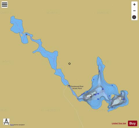 Lake 17H77 Fishing Map - i-Boating App