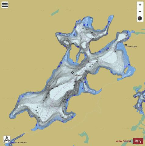 Peshu Lake Fishing Map - i-Boating App