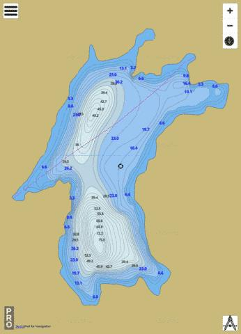 Camp Lake Fishing Map - i-Boating App