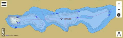 Card Lake Fishing Map - i-Boating App