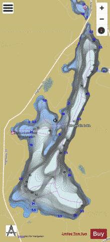 Mountain Lake Fishing Map - i-Boating App