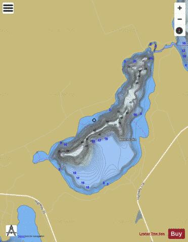Beech Lake Fishing Map - i-Boating App