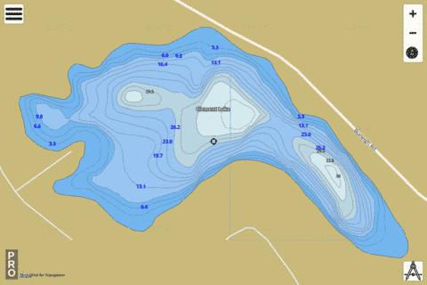Clement Lake Fishing Map - i-Boating App