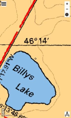 Billys Lake Fishing Map - i-Boating App