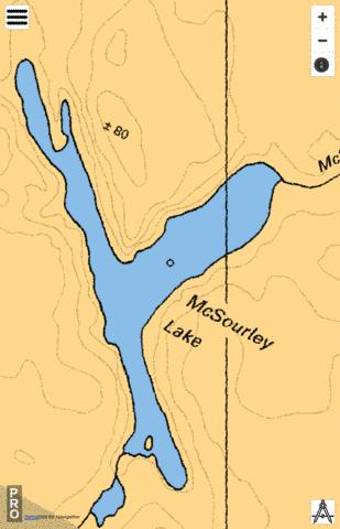 McSourley Lake Fishing Map - i-Boating App