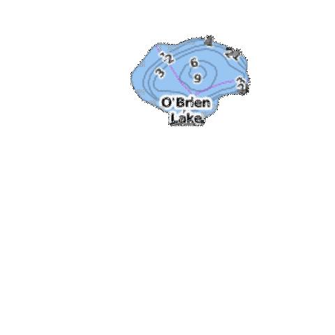 O'Brien Lake Fishing Map - i-Boating App