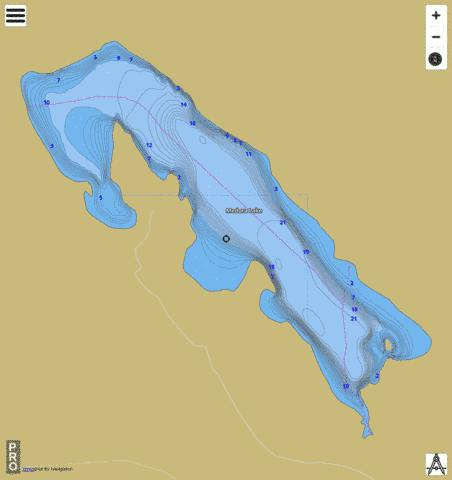 Medora Lake Fishing Map - i-Boating App
