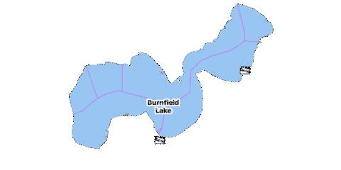 Burnfield Lake Fishing Map - i-Boating App