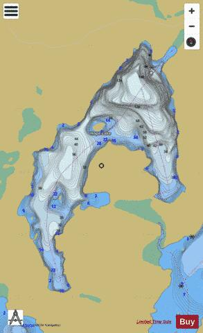 Hope Lake Fishing Map - i-Boating App