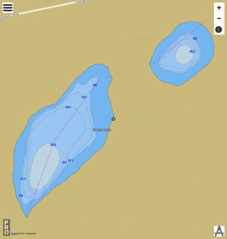 Foster Ponds Fishing Map - i-Boating App