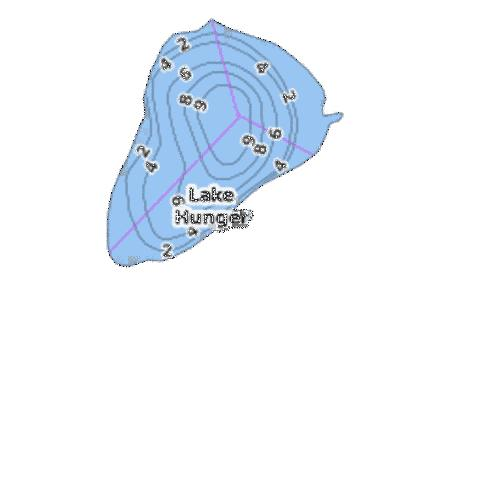 Lake Hunger Fishing Map - i-Boating App
