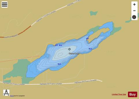 Richard Lake Fishing Map - i-Boating App