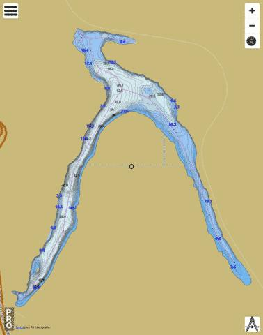 Lovering Lake Fishing Map - i-Boating App