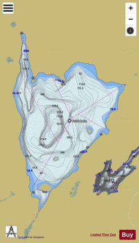 Feist Lake Fishing Map - i-Boating App