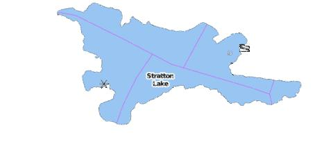 Stratton Lake Fishing Map - i-Boating App