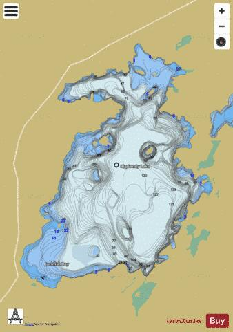 Big Sandy Lake Fishing Map - i-Boating App
