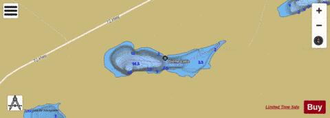 Diene Lake Fishing Map - i-Boating App