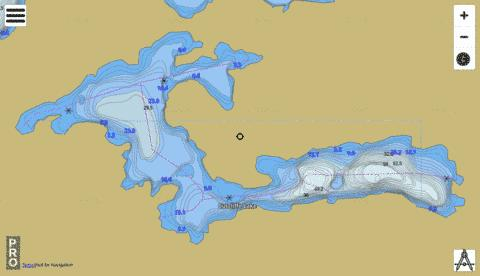Cutcliffe Lake Fishing Map - i-Boating App