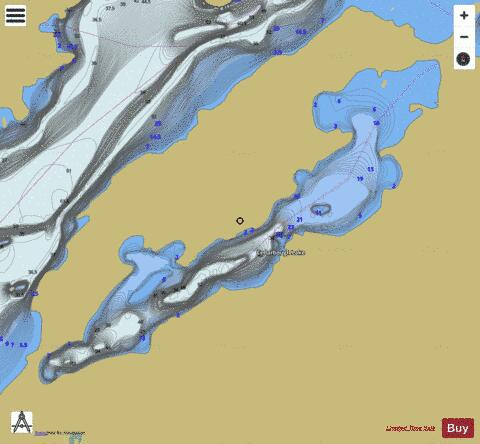 Cedarbough Lake Fishing Map - i-Boating App