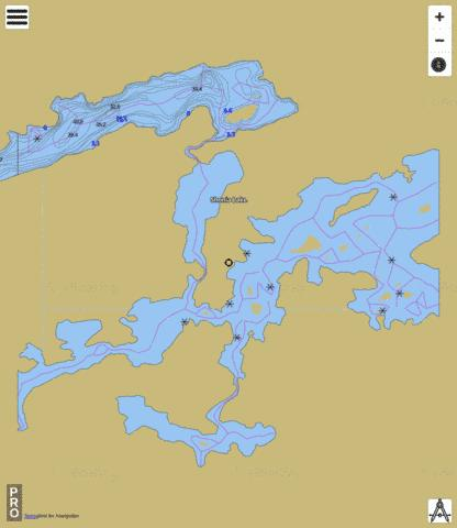 McVicar Lake Fishing Map - i-Boating App