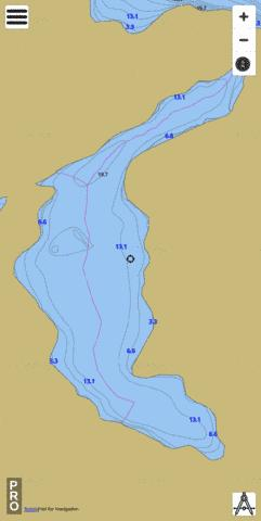 Unnamed Lake Fishing Map - i-Boating App