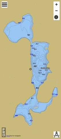 Castle Lake Fishing Map - i-Boating App