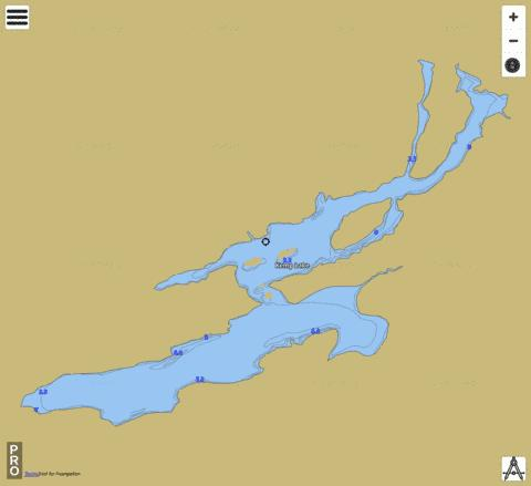 Kemp Lake Fishing Map - i-Boating App
