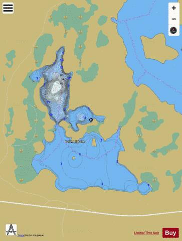 Caldwell Lake Fishing Map - i-Boating App