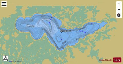 Opinnagau Lake Fishing Map - i-Boating App