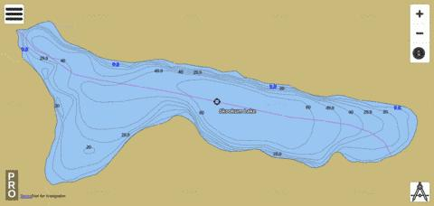 Skookum Lake Fishing Map - i-Boating App