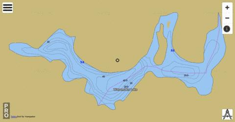 Wanamaker Lake Fishing Map - i-Boating App