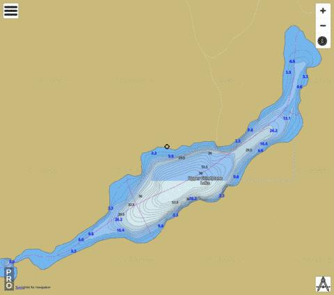 Upper Grindstone Lake Fishing Map - i-Boating App