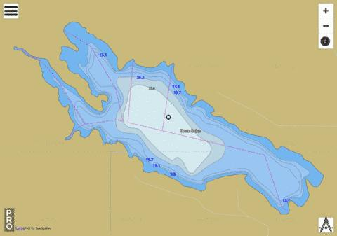 Dean Lake Fishing Map - i-Boating App